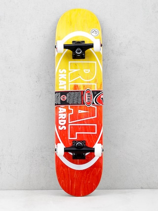 Real Skateboard Metallic Oval Fades (yellow/red)