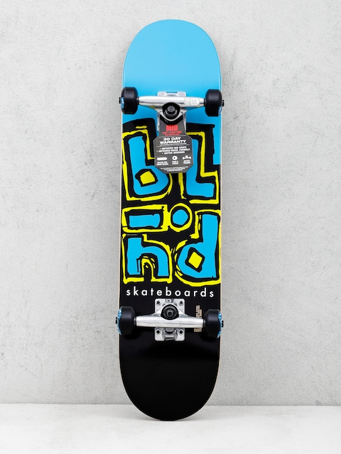 Blind Skateboard Jumbled Split (cyan/black)