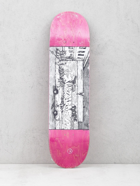 Polar Skate Deck Team Straight From The Hood (pink)