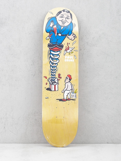 Polar Skate Deck Paul Grund Present (yellow)