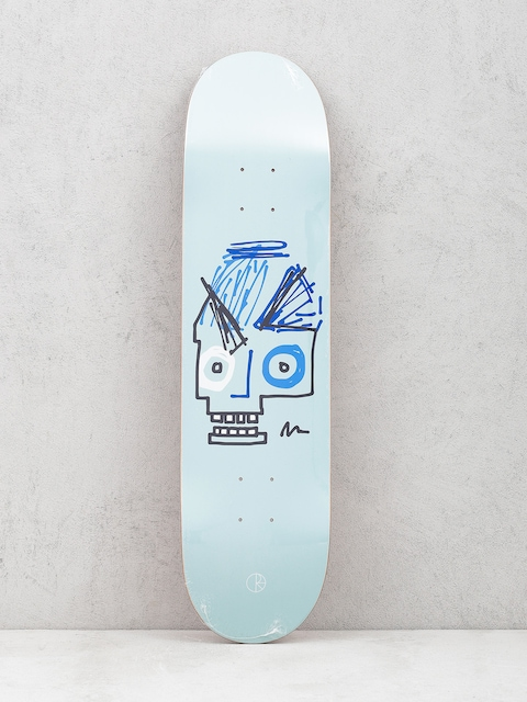 Polar Skate Deck Team Insta Skull (light blue)