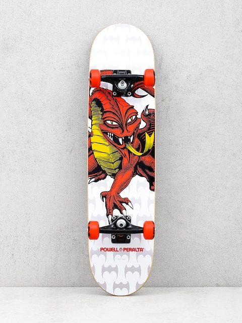 Powell Peralta Skateboard Cap Dragon One Off (white/red)