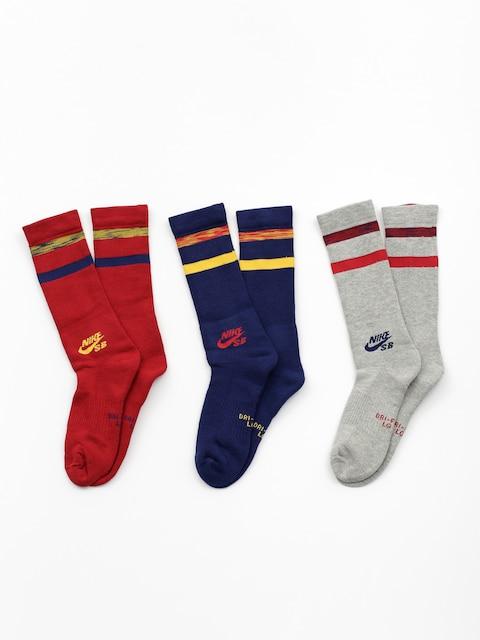 Nike SB Socks Sb Crew 3 Pk (multi color)