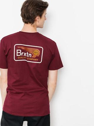 Brixton T-shirt Messenger Stt (burgundy)