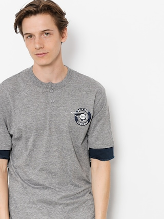 Brixton T-shirt Mercury Henley (heather grey/navy)