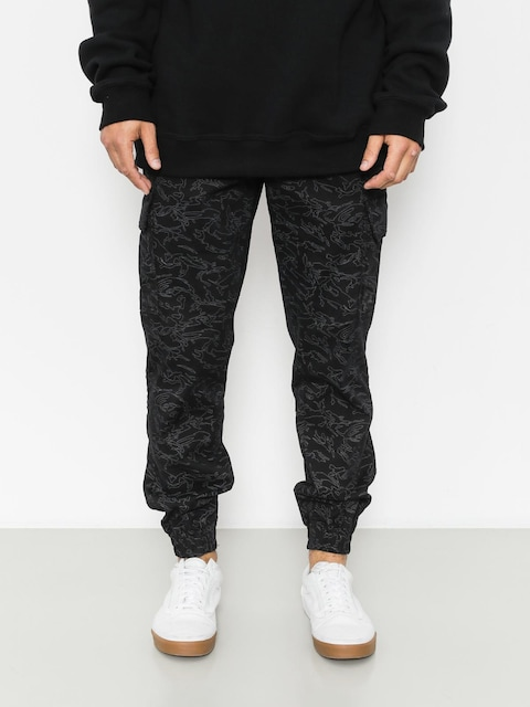 Diamante Wear Pants Flight School Hunter Jogger (black camo)