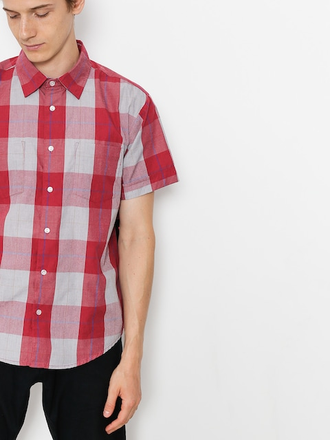 Brixton Shirt T-shirt Branson Wvn (red/grey)