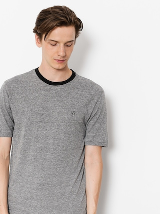 Brixton T-shirt B Shield Prt (heather grey/black)