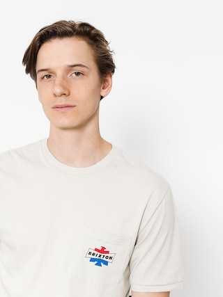 Brixton T-shirt Spencer Pkt (stone)