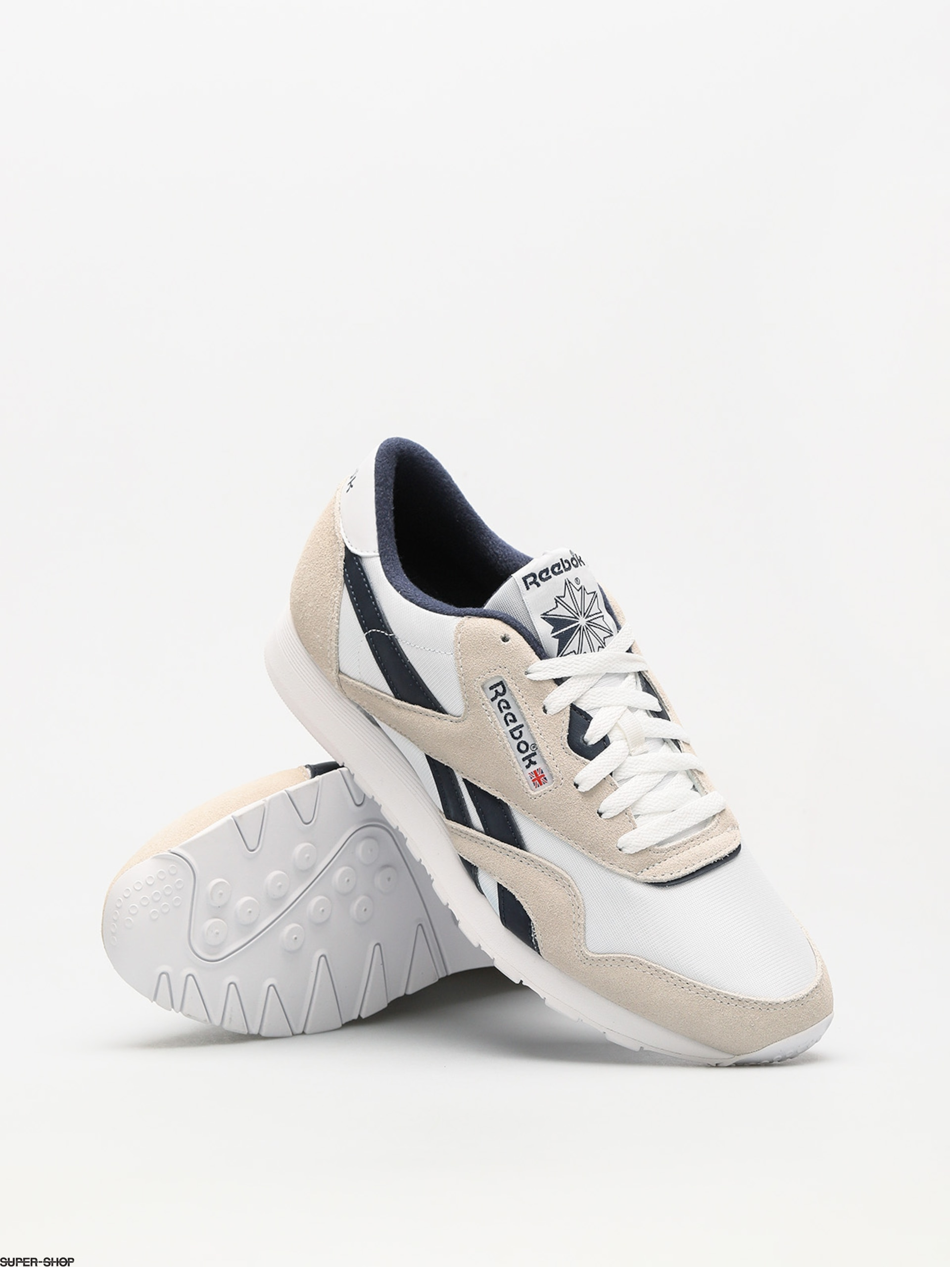 Reebok Shoes Cl Nylon R (archive white collegiate navy) b20459e90