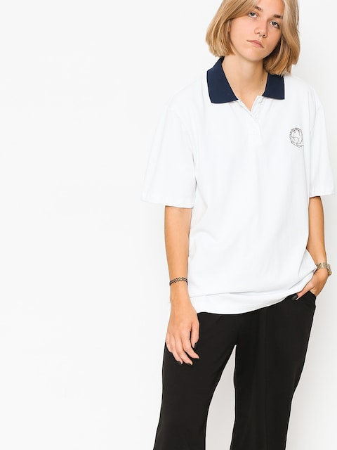 Stussy Polo t-shirt Sofie Oversized Wmn (white)