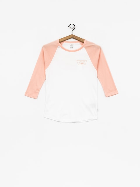 Vans T-shirt Full Patch Raglan Wmn (white/rose cloud)
