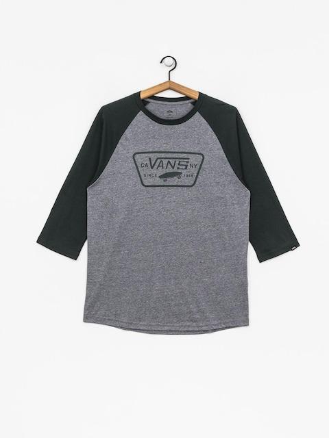Vans T-shirt Full Patch Raglan (heather grey/darkest spruce)