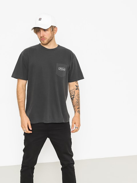 Stussy T-Shirt Trucker Pig Dyed Pocket (black)