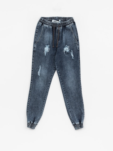 Diamante Wear Pants Rm Jeans Jogger (ripped blue jeans)