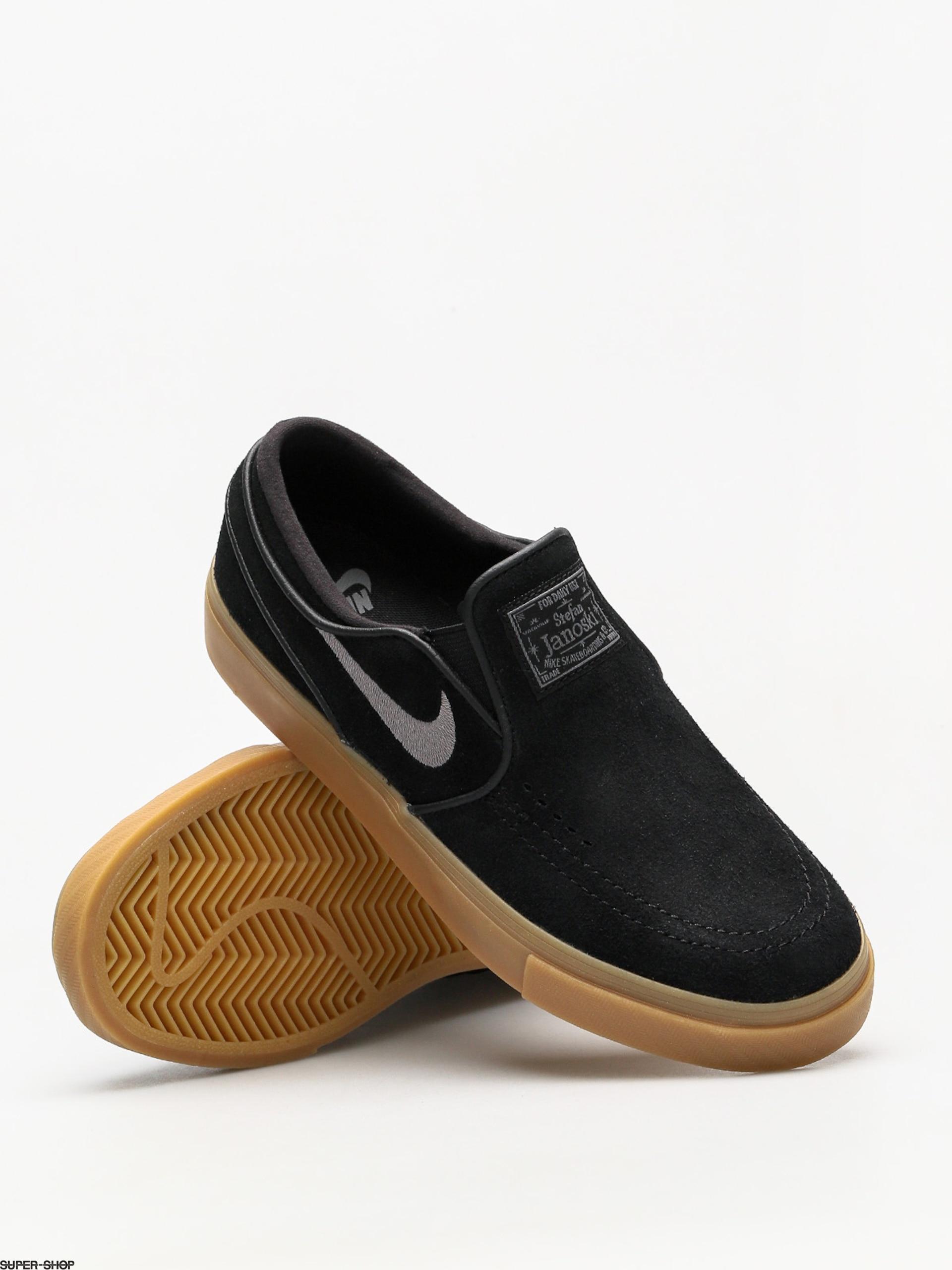 Nike SB Schuhe Air Zoom Stefan Janoski Slip (schwarz/gunsmoke gum