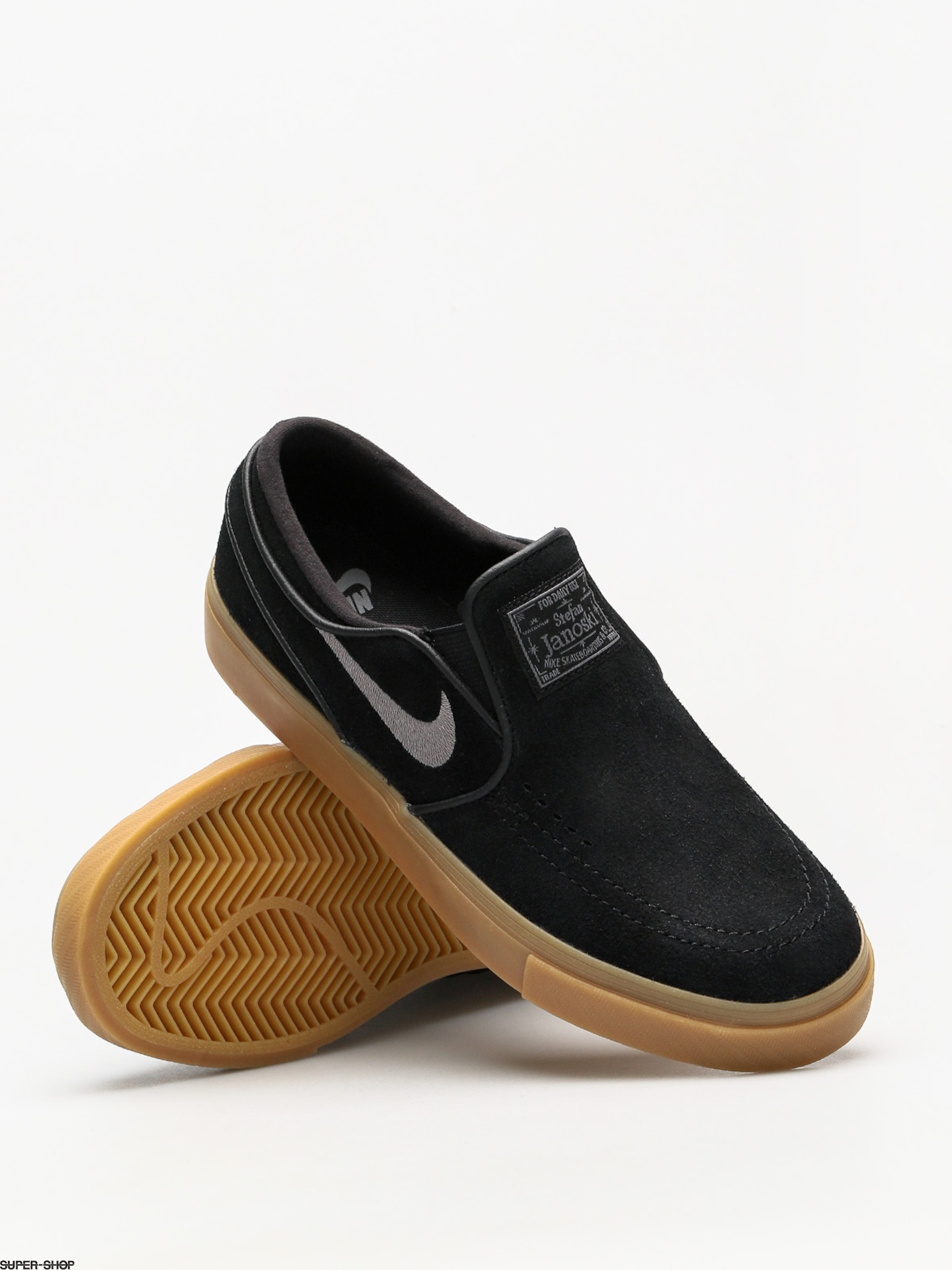 7dc0bbc80 Nike SB Shoes Air Zoom Stefan Janoski Slip (black gunsmoke gum light brown)