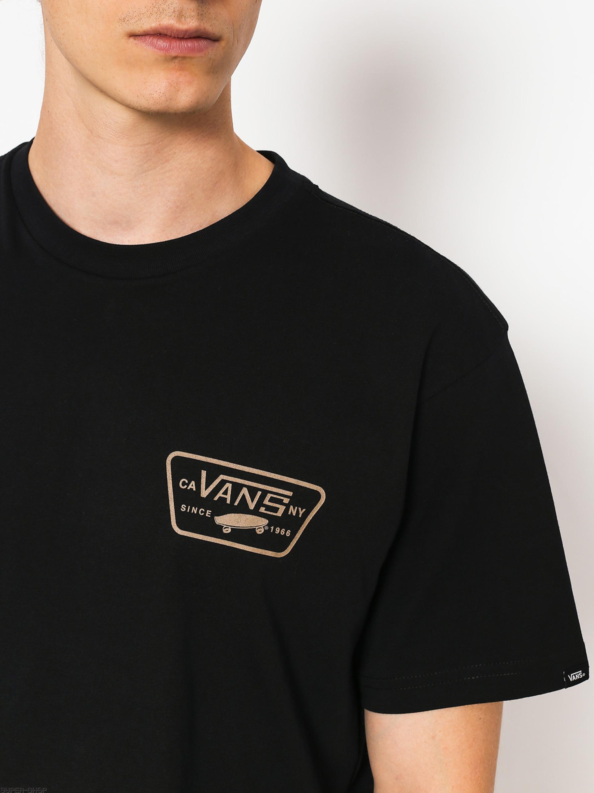 4d61d14f Vans T-shirt Full Patch Back (black/dirt)