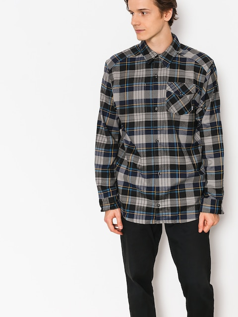 adidas Shirt Flex Flannel (core heather/collegiate navy/tactile yellow f17)