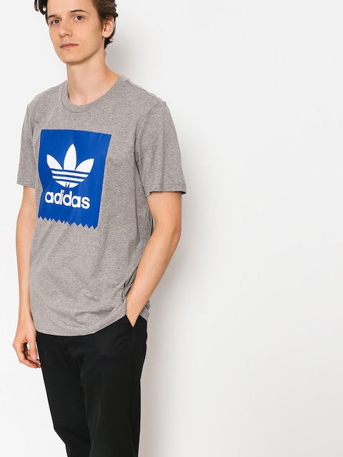 adidas T-shirt Solid Bb (core heather/collegiate royal)