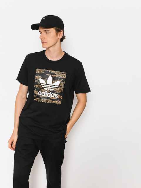adidas T-shirt Camo Bb (black/camo print/collegiate orange)