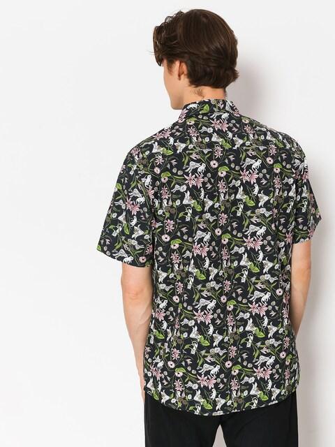 RipNDip Hemd Nerm Flower Button Up (black)