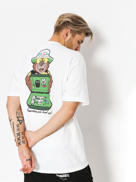 Grizzly Griptape T-shirt Bear & Loathing (white)