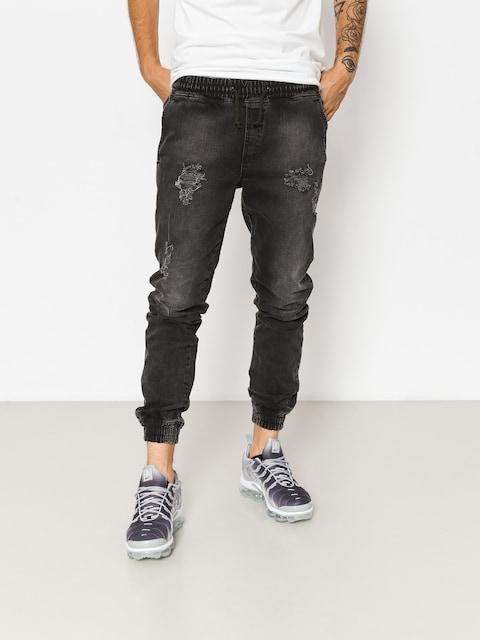 Diamante Wear Pants Rm Jeans Jogger (ripped black jeans)
