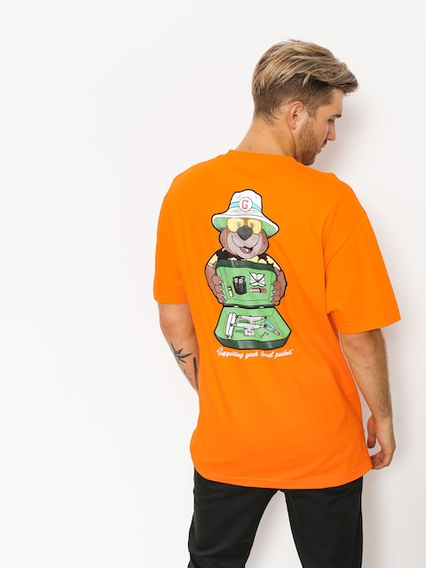 Grizzly Griptape T-shirt Bear & Loathing (orange)