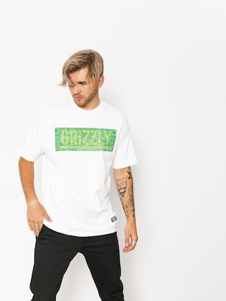 Grizzly Griptape T-shirt Fresh Cut Box Logo (white)