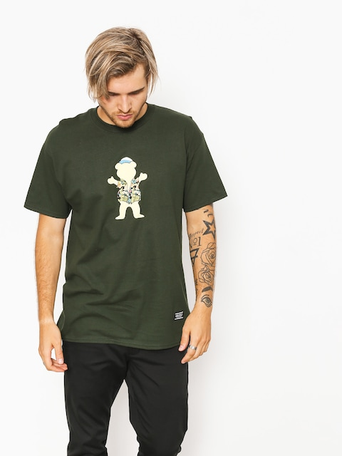 Grizzly Griptape T-shirt Whibig Kahuna Og Bear (forest green)