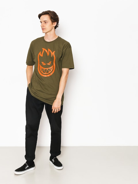 Spitfire T-shirt Cvrt Bghd (military green/orange)