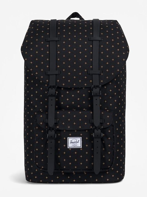 Herschel Supply Co. Rucksack Little America (black gridlock gold)