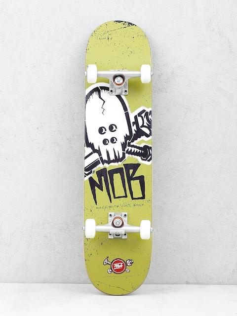 Mob Skateboards Skateboard Skull Stencil (olive green)