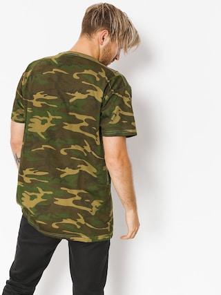 HUF T-shirt Fuck It Camo Flag (woodland camo)