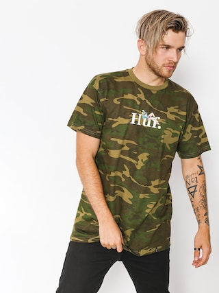 HUF T-Shirt Miss America (woodland camo)