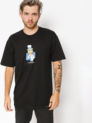 HUF T-Shirt Miss America Tu (black)
