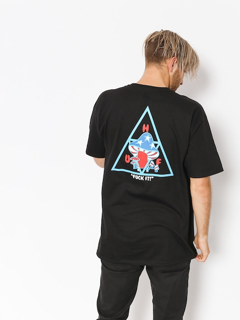 HUF T-Shirt Triple Triangle Shroom (black)