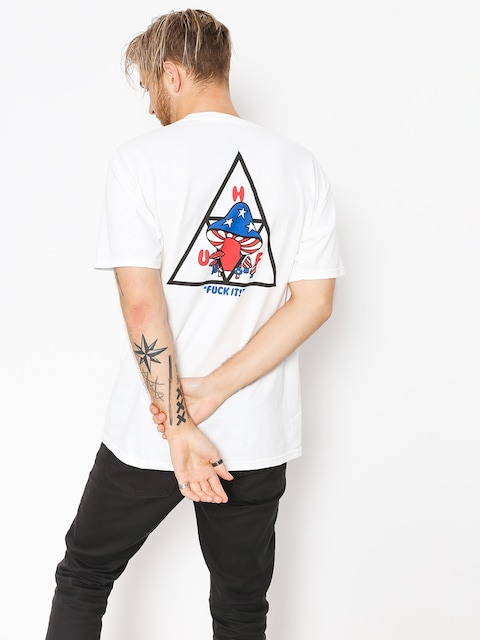HUF T-Shirt Triple Triangle Shroom (white)