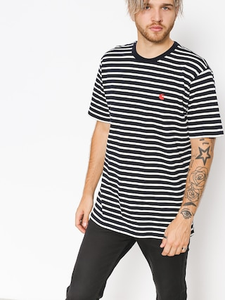 Carhartt WIP T-shirt Roble (roble stripe/dark navy/wax)