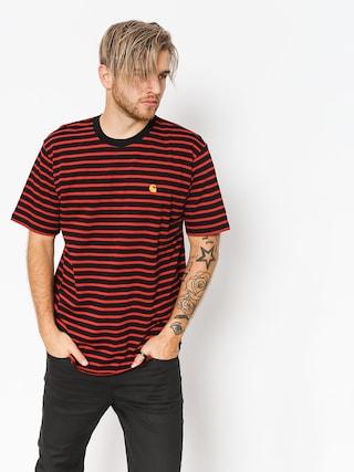 Carhartt WIP T-Shirt Robie (robie stripe black/blast red)