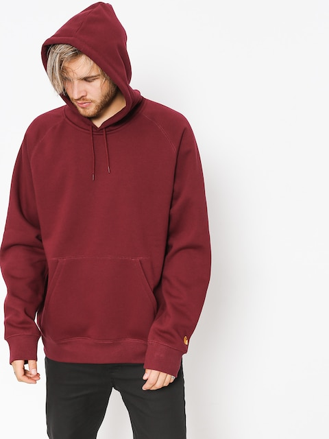 Carhartt WIP Hoodie Chase HD (mulberry/gold)