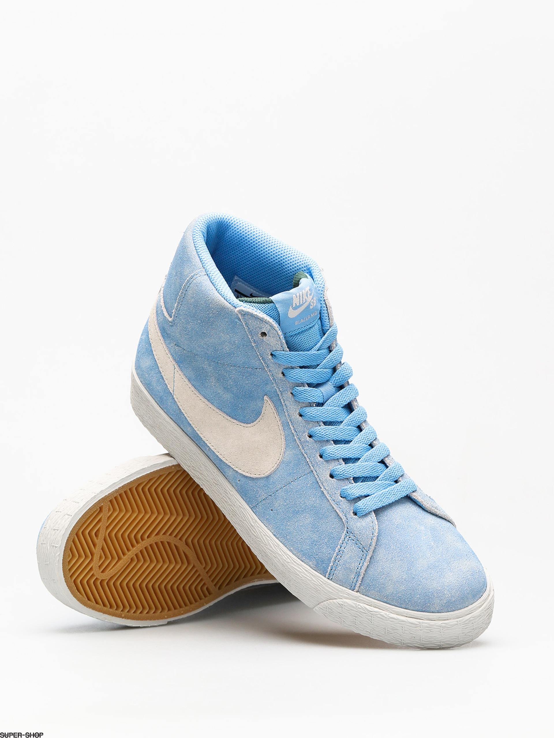 216ad57eb299f Nike SB Shoes Sb Zoom Blazer Mid (university blue light bone habanero red)