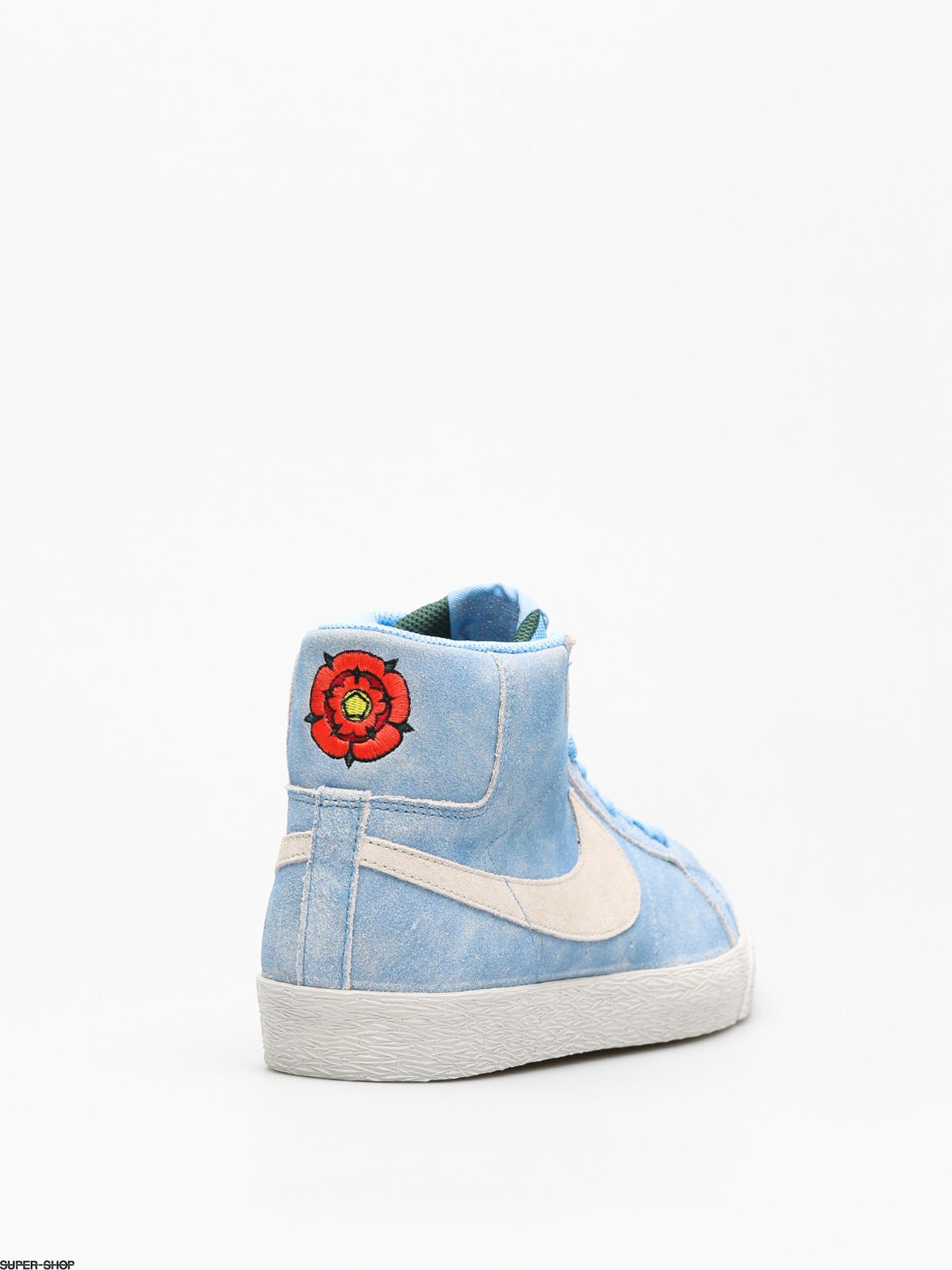 brand new f0f8d 75124 Nike SB Shoes Sb Zoom Blazer Mid (university blue light bone habanero red)