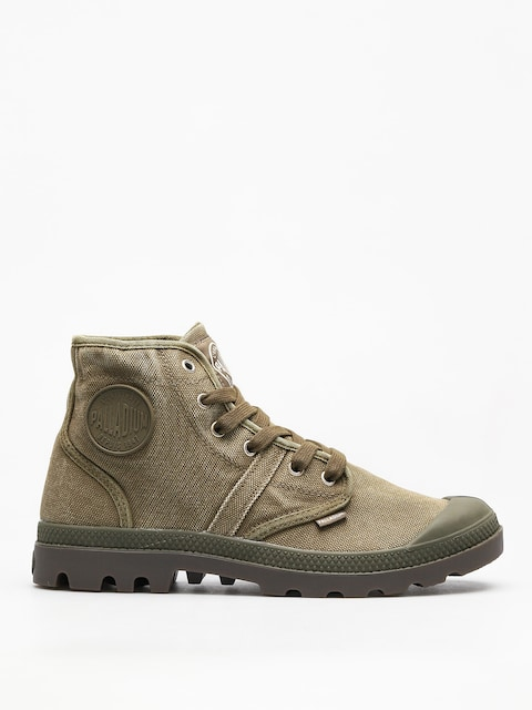 Palladium Shoes Pallabrousse (dark olive/dk gum)