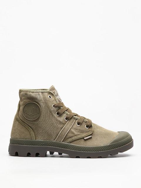 Palladium Shoes Pallabrousse (dark olive/dk gum)