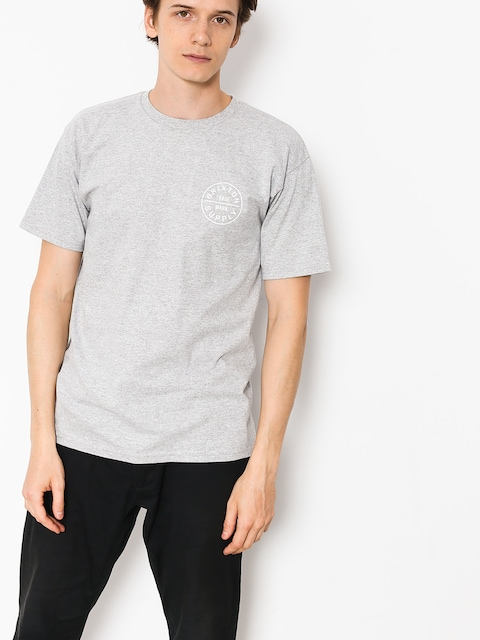 Brixton T-shirt Oath (heather grey/white)