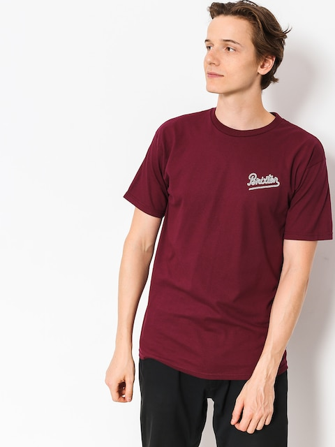 Brixton T-shirt Hammond (burgundy)