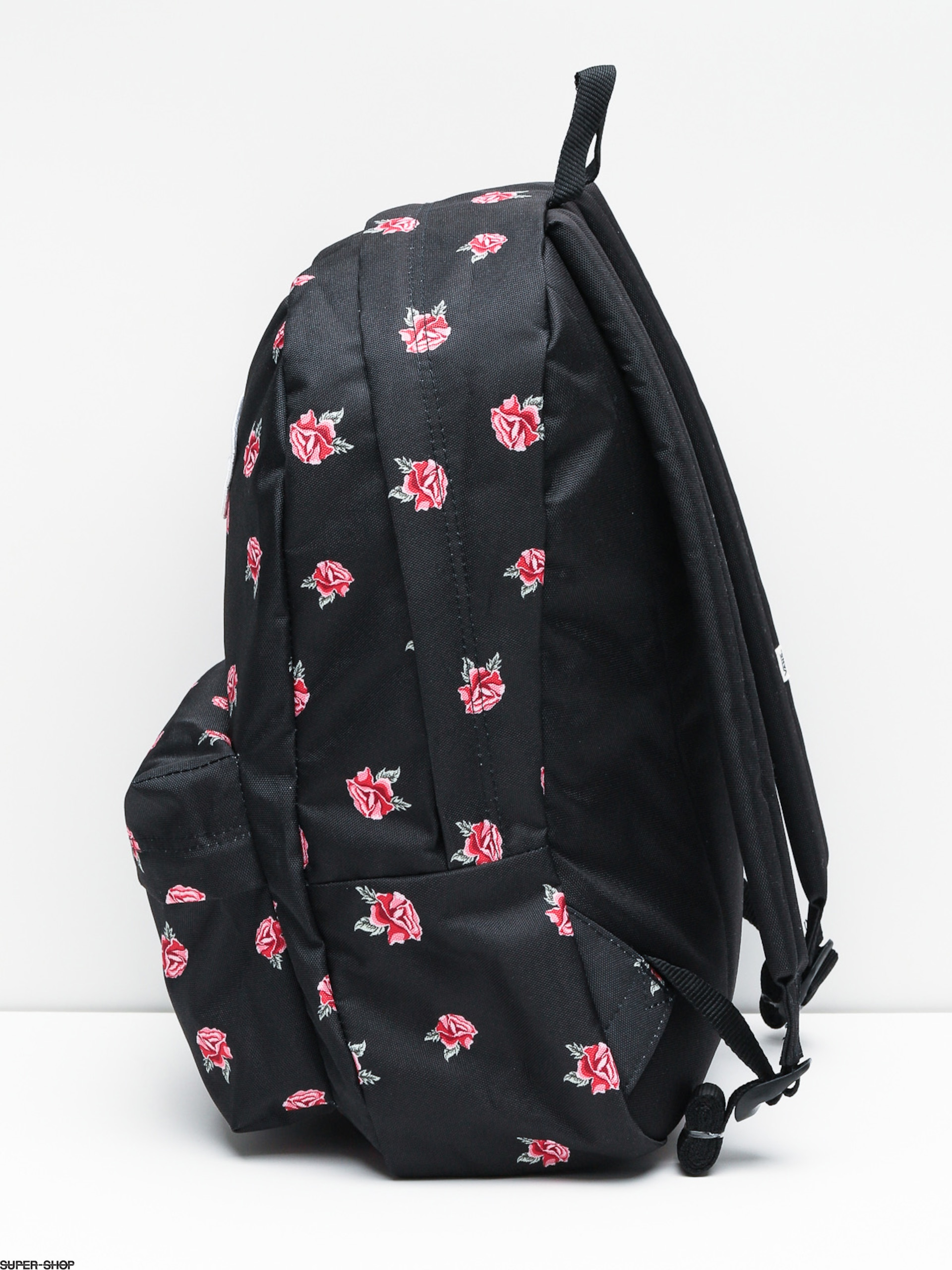 1ac91969cca Vans Black Backpack With Roses- Fenix Toulouse Handball