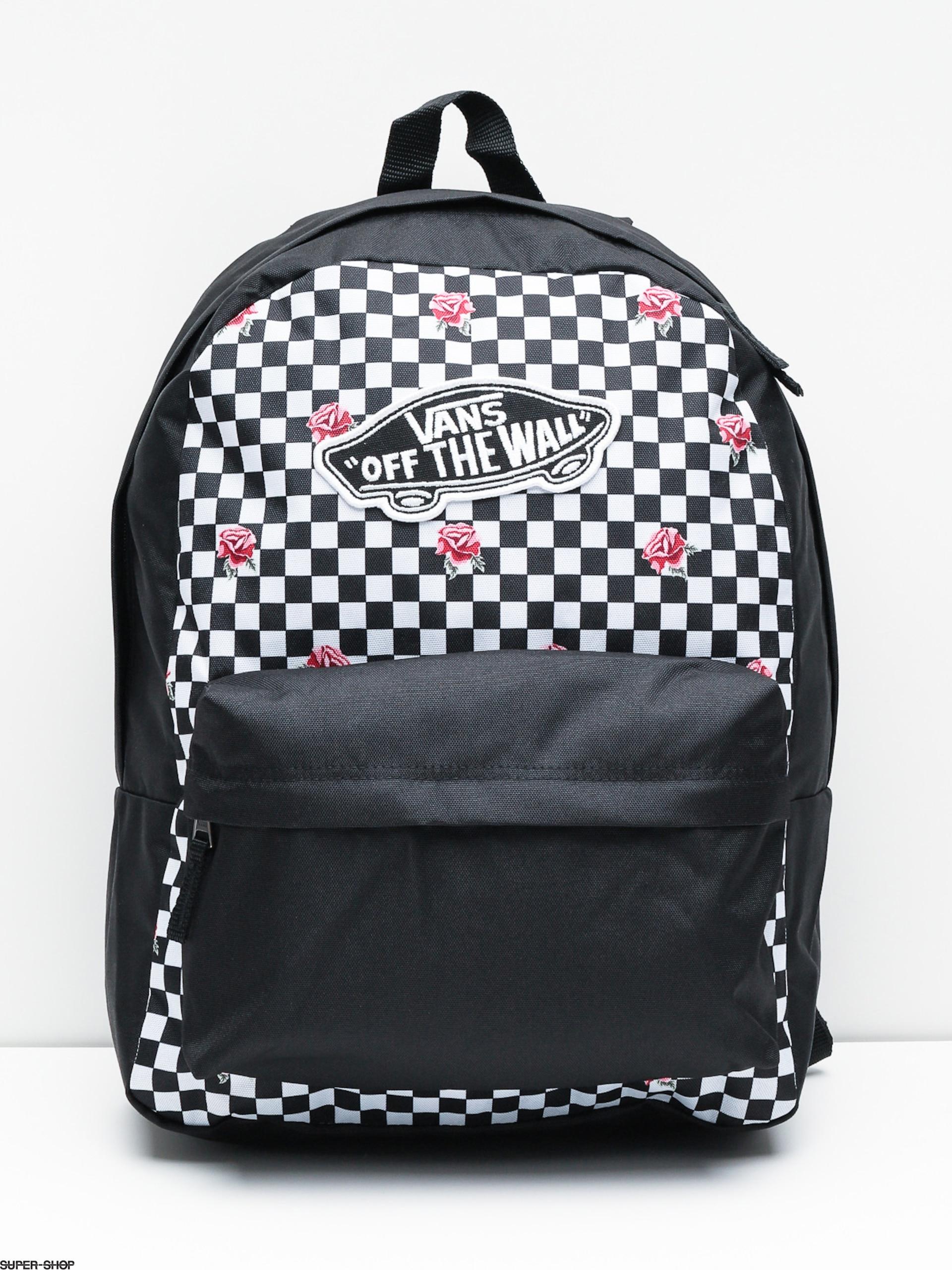 Vans Backpack Realm Wmn Rose Checkerboard
